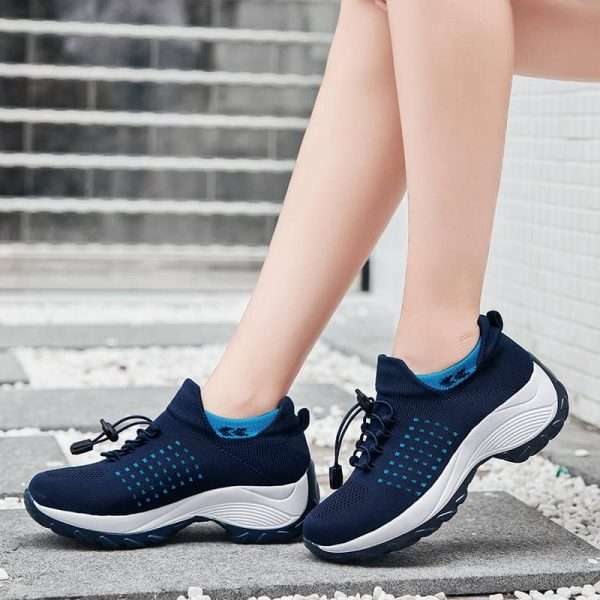 Chunky Sole Sports Sneakers for Women with Very Breathable Material