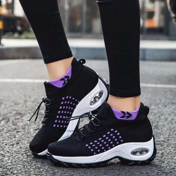 Chunky Sole Air Cushion Sneakers for Women
