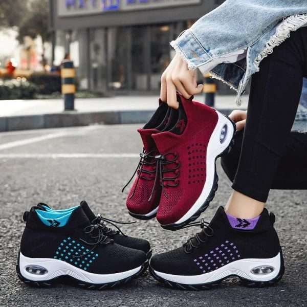 Cool and breathable women's sports shoes
