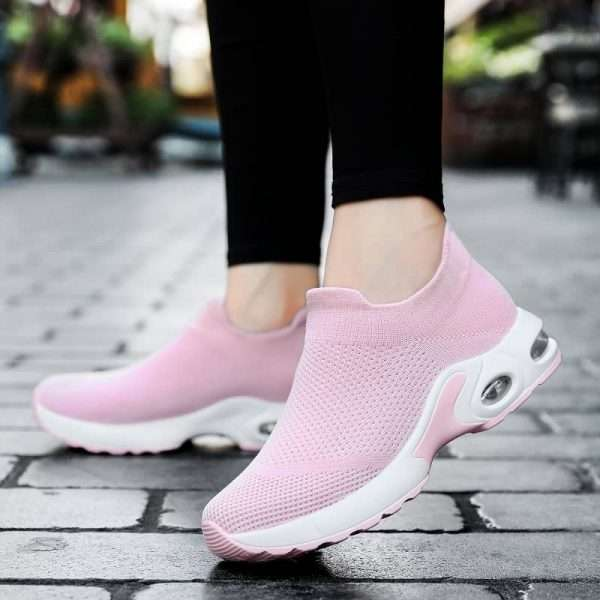 Stylish Air Cushion Sneakers for women's with Very Breathable Material