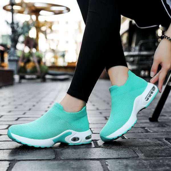 Stylish Blue Sneakers for women's with high impact resistance sole