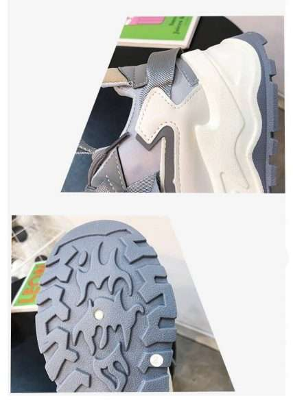 High quality rubber sole, non-slip, light and flexible.